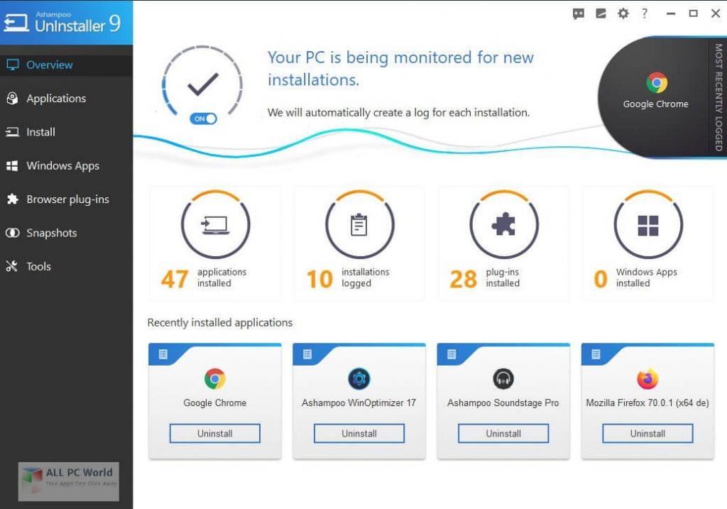Ashampoo UnInstaller 10.00.13 Crack With free Download 2021