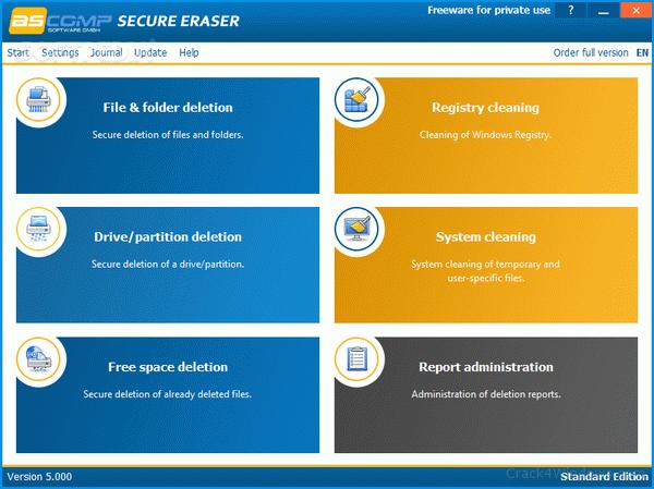Secure Eraser Professional 5.211 Crack Free download 2021