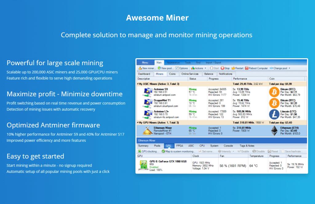 Awesome Miner v8.8.3 (Ultimate+Crack) Download for Windows 2021